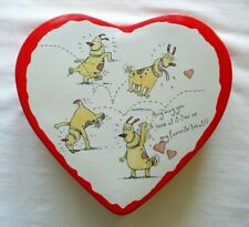 "Hallmark Shoebox Dog Valentine's Day Heart Tin "".you're my favorite treat"""