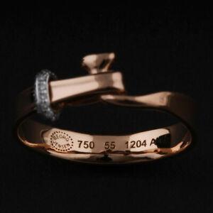 Georg Jensen Gold Ring # 1204A. Rose / White. Diamonds. Vivianna Torun. NEW!