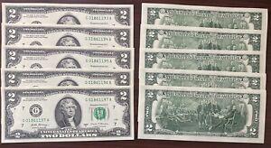 USA 2 Dollar 2017 A Schein 2 US $ Banknote aus Bündel Bankfrisch Unzirkuliert