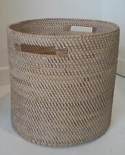 Cesta de ratán Grande Redondo Juguetes de ropa de almacenamiento de registro Plantador De Mimbre hecho a mano