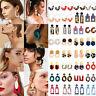 Fashion Jewelry 1 Pair Acrylic Resin Tortoise Shell Lady Hoop Statement Earrings