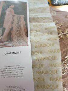 Original Lawn Sana Safinaz Maria B Elan Baroque Suits Scarves Net