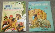 NOAH'S ARK and BIBLE PICTURE STORIES Old and New Testament A GOLDEN BOOK   BIG