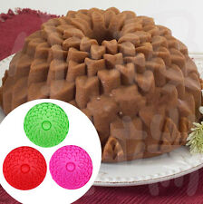 "9"" Sunflower Bread Pie Flan Tart Birthday Party Cake Silicone Mold Pan Bakeware"