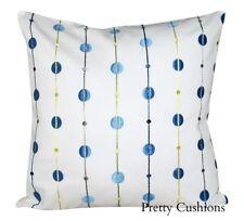 Sanderson Carousel Blue Embroidery Cushion Cover