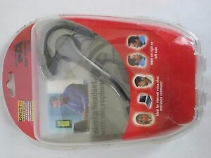 Cyber Acoustics HS-700 Connector Single Ear Earclip Headset with Microphone