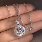 Women Elegant Jewelry Cubic Zirconia 925 Silver Necklace Pendants Gifts