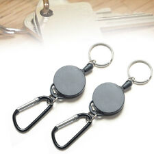 "2pcs Retractable Key Chain Reel Recoil Pull Badge Reel with 27"" Key Ring Rope PP"