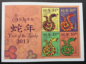 Samoa Year Of The Snake 2013 Chinese Zodiac Lunar (ms) MNH