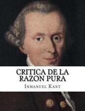 Critica de la Razon Pura by Inmanuel Kant (2015, Paperback)