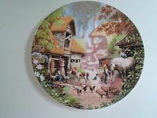THE FARMYARD Plate By Robert Hersey Coalport China Tale of a Country Village