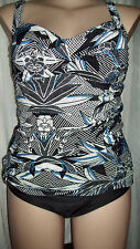 Alexa Blues Holiday padded twist bust Tankini top swimsuit bathers 22 NEW