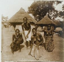 Afrika Schwarz -frauen Busen Nackte Foto Stereo PL32P3n11 Platte Gläser Vintage