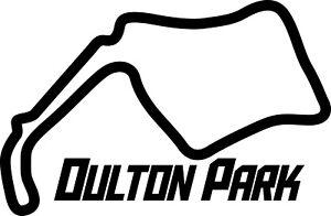 OULTON PARK RACE CIRCUIT. Car vinyl sticker F1 British Grand Prix Formula One