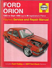 1009 Ford Orion Haynes Service and Repair Manual 1983 to 1990