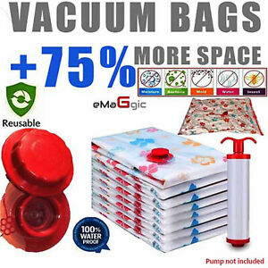4x STRONG VACUM VACUUM STORAGE SPACE SAVING BAGS VAC BAG SPACE SAVER VACCUM BAG