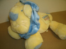 "Animal Alley Yellow Blue Plush Lion Babys First Stuffed 16"" EUC"