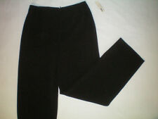 NWT NEW womens black AMANDA SMITH dress pants size 8 X 31 free shipping