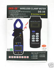 1set Wireless Clamp Meter DE-35 3-3/4 Digit 100m Distance with USB DER EE Taiwan