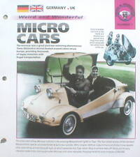 MICRO CARS Brochure: Messerschmitt, Isetta, Bond Bug,