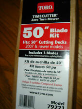 "Toro 50"" Timecutter Z mower Original OEM 3 piece blade set 79221 FREE shipping"