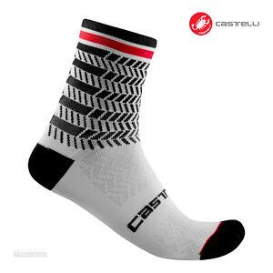 Castelli AVANTI 12 Cycling Socks : BLACK/WHITE - One Pair