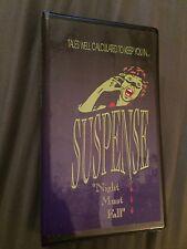 SUSPENSE Scary Radio Play 5 Cassette Tape Set NIGHT MUST FALL 1940s Creepy RARE!