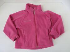 Columbia Little Girls Zip Front Jacket Zip Pockets Pink Size 4/5  #7125