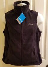Columbia Women's Benton| Springs Vest Sleeveless Full Front Zip Black Medium