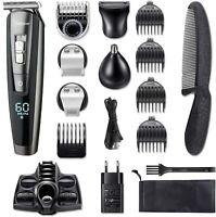 Hatteker Barbero Electrico Cortapelos Profesional Hombre Recargable 12 Accesorio