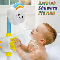 Cloud Baby Bath Toys Bathtub Showers Bathing Spouts Suckers Folding Spray Faucet