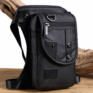 Men Waterproof Oxford Waist Leg Bag Drop Leg Waist Motorcycle Tactical Backpack
