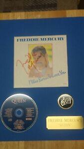 Freddie Mercury hand-signed album sleeve - 'I was born to love you' w/COA! QUEEN