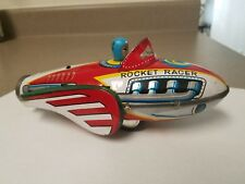 ROCKET RACER  COLLECTABLE VTG. MF735 1960 CHINA FRICTION SIREN SPACE  TIN TOY