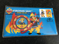 New Mint Sealed Fireman Sam Saving The Day Collectors Medallion Cover 3000 Only