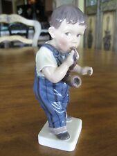Royal Copenhagen Denmark Boy With Pipe Porcelain Figurine #1027
