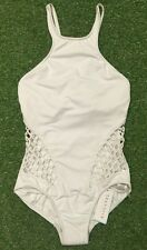 New Seafolly Mesh About High Neck DD Cup Maillot In White - Size AU8 / US4