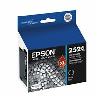 2 Genuine Epson 252XL Black Ink Cartridges C13T253192 for Epson WF3620,3640,7620