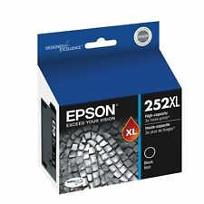 Genuine Epson 252XL Black Ink Cartridge C13T253192 for Epson WF3620,3640,7620