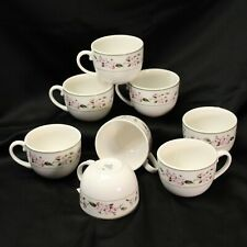 MSE Martha Stewart Everyday Pink Hydrangea Cups Lot of 8