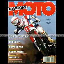 MOTO CRAMPONS N°26 KTM 125 GS CAGIVA CARDEL HUSQVARNA FANTIC 303 SERGE BACOU '87