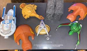 Playmates STAR TREK Borg - Klingon - Star Ship Lot   Of Six Ships And Tricorder