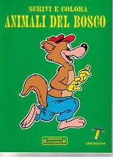 Animali del bosco. Scrivi e colora - Salvadeos - Libro nuovo in offerta!