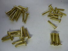"NOS Brass Plated Steel Split Rivets 9/16"" Grip Lot of 35"