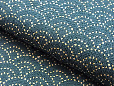 Japanese Fabric_Cotton_Peacock blue,Seigaiha_Half Yard,#m004