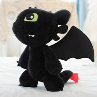 """Cute 12"""" How to Train Your Dragon Plush Toothless Night Fury Soft Toy Doll XS"""