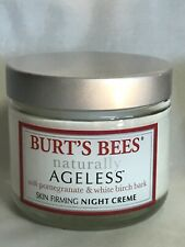 Burt's Bees Naturally Ageless Skin Firming Night Cream Net Wt. 2 oz. - Rare