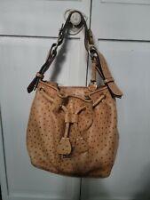 Dooney & Bourke Drawstring Ostrich Bucket Bag ~