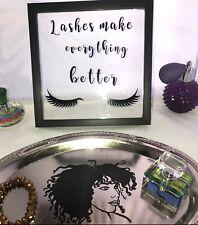 Black Frame Makeup Eyelash Table Accent Salon Decor Free Shipping New Year Sale