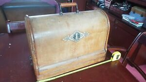 Very Early Antique Singer 28K Sewing Machine Bentwood Case / Base & Lid.